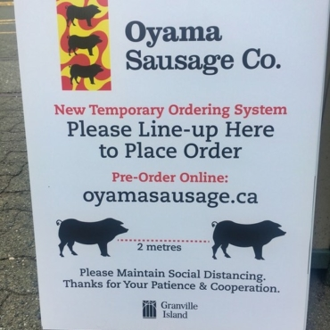 Oyama Sausage Sign