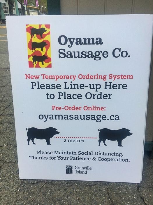 Oyama Sausage Sign